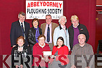 PRESENTATION: The Abbeydorney ploughing committee presented a cheque of €14,31-24 to Listowel Hospice Care on Saturday in McEllifgotts Bar, Abbeydorney. Front l-r: Margaret Shanahan,Eileen McCarthy(Abbey Ploughing), Jacqueline Barry (Listowel Hospice Care) and Robert Barry. Back l-r: Munday Hayes, Peg Gill, Tom O'Mahony, Kathleen Casey O'Connell and pat Hayes...