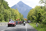 Km0 the start of Stage 15 of the 2018 Giro d'Italia, running 156km from Tolmezzo to Sappada, Italy. 20th May 2018.<br /> Picture: LaPresse/Fabio Ferrari | Cyclefile<br /> <br /> <br /> All photos usage must carry mandatory copyright credit (&copy; Cyclefile | LaPresse/Fabio Ferrari)