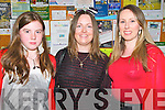 NOrth Kerry Makeover Fashion Show: Attending the North Kerry Ma=keover Fashion Show on Thursday night last at the Listowel Sports Centre were Leanne Lyons, Majella Quinn & Cecelai Lyons.