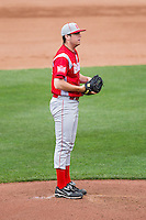 Joe Bircher (31) of the Bradley Braves on the mound during a game against the Missouri State Bears on May 13, 2011 at Hammons Field in Springfield, Missouri.  Photo By David Welker/Four Seam Images