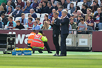 West Ham Manager David Moyes West Ham assistant Manager Stuart Pearce  during West Ham United vs Everton, Premier League Football at The London Stadium on 13th May 2018