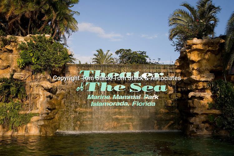 Theater Of The Sea waterfall, Islamorada, Florida