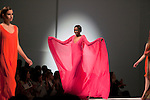 CAPE TOWN, SOUTH AFRICA - JULY 15: A model wears a dress by designer label Habits at a fashion show at the the Cape Town Fashion Week on July 15, 2011, in Cape Town, South Africa. Some of South Africa's finest designers showed their 2011 Spring and summer collections during the 3 day event. Photo by Per-Anders Pettersson
