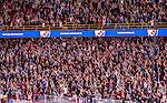 Stockholm 2014-09-17 Ishockey SHL Djurg&aring;rdens IF - Leksands IF :  <br /> Djurg&aring;rdens supportrar under matchen mellan Djurg&aring;rden och Leksand<br /> (Foto: Kenta J&ouml;nsson) Nyckelord:  Djurg&aring;rden DIF Hockey Globen Ericsson Globe Arena SHL Leksand LIF supporter fans publik supporters