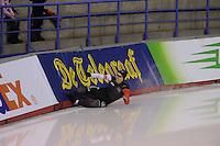 SCHAATSEN: CALGARY: Olympic Oval, 09-11-2013, Essent ISU World Cup, 1000m, valpartij William Dutton (CAN), ©foto Martin de Jong