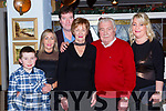 William and Eileen Coughlan Millstreet celebrated their 40th wedding anniversary in the Porterhouse Killarney on Saturday night l-r: Zach Darcy, Yvonne Coughlan Darcy, Paul Ryan, William and Eileen Coughlan and Christina Lucey