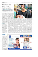Die Presse (Austrian daily) on students with children, 05.2014. Photo: Martin Fejer