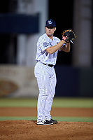 Tampa Tarpons relief pitcher Trevor Lane (47) gets ready to deliver a pitch during a game against the Daytona Tortugas on April 18, 2018 at George M. Steinbrenner Field in Tampa, Florida.  Tampa defeated Daytona 12-0.  (Mike Janes/Four Seam Images)