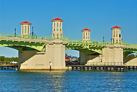 "Photograph of the ""Bridge of Lions"" drawbridge in historic St. Augustine, Florida"