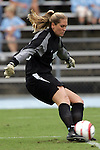 09 October 2005: North Carolina's Aly Winget. The Duke Blue Devils defeated the #1 ranked Carolina Tar Heels 2-1 at Fetzer Field in Chapel Hill, North Carolina in a regular season Atlantic Coast Conference women's soccer game.