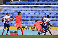 7th July 2020; Madejski Stadium, Reading, Berkshire, England; English Championship Football, Reading versus Huddersfield; the shot from Tyler Blackett of Reading is cleared off the line