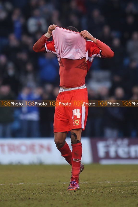 Dele Alli of MK Dons reaction at the final whistle after losing to Gillingham - Gillingham vs Milton Keynes Dons - Sky Bet League One Football at Priestfield Stadium, Gillingham, Kent - 14/02/15 - MANDATORY CREDIT: Paul Dennis/TGSPHOTO - Self billing applies where appropriate - contact@tgsphoto.co.uk - NO UNPAID USE