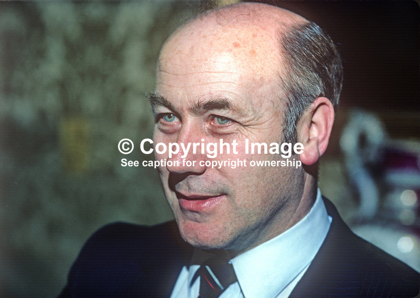 Dr Martin O'Donoghue, TD, Fianna Fail, Minister for Education, Rep of Ireland, 1982030037MOD2..Copyright Image from Victor Patterson, 54 Dorchester Park, Belfast, UK, BT9 6RJ..Tel: +44 28 9066 1296.Mob: +44 7802 353836.Voicemail +44 20 8816 7153.Skype: victorpattersonbelfast.Email: victorpatterson@me.com.Email: victorpatterson@ireland.com (back-up)..IMPORTANT: If you wish to use this image or any other of my images please go to www.victorpatterson.com and click on the Terms & Conditions. Then contact me by email or phone with the reference number(s) of the image(s) concerned.