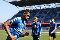San Jose, CA - Sunday October 21, 2018: Anibal Godoy prior to a Major League Soccer (MLS) match between the San Jose Earthquakes and the Colorado Rapids at Avaya Stadium.
