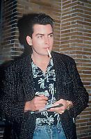 Charlie Sheen 1987 NYC By Jonathan Green