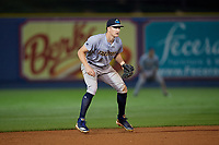 Trenton Thunder shortstop Kyle Holder (6) during an Eastern League game against the Reading Fightin Phils on August 16, 2019 at FirstEnergy Stadium in Reading, Pennsylvania.  Trenton defeated Reading 7-5.  (Mike Janes/Four Seam Images)