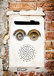 Letterbox face series (3) in Venice, Italy