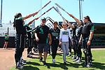 DENTON, TX - MAY 6: University of North Texas Mean Green Softball vs. University of Alabama, UAB at Lovelace Field in Denton on May 6, 2018 in Denton, Texas. Photo by Rick Yeatts