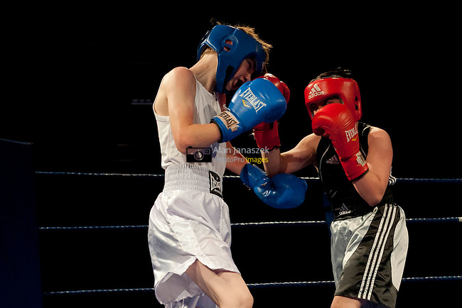 Ahmed Camran (Sheffield City ABC) red corner v Dan McGreedy (Scunthorpe Centurians) blue corner