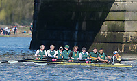 Mortlake/Chiswick, GREATER LONDON. United Kingdom. Crabtree BC. MasF.8+. competing at the 2017 Vesta Veterans Head of the River Race, The Championship Course, Putney to Mortlake on the River Thames.<br /> <br /> <br /> Sunday  26/03/2017<br /> <br /> [Mandatory Credit; Peter SPURRIER/Intersport Images]