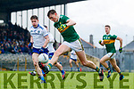 Gavin O'Brien  Kerry in action against Karl O'Connell Monaghan during the Allianz Football League Division 1 Round 5 match between Kerry and Monaghan at Fitzgerald Stadium in Killarney, on Sunday.
