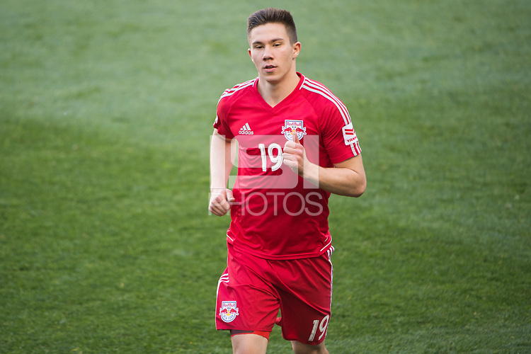 HARRISON, NJ - Sunday May 14, 2017: The New York Red Bulls take on the LA Galaxy at home at Red Bull Arena during the 2017 MLS regular season.
