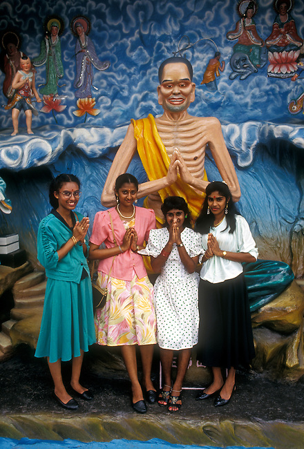 People, women, Haw Par Villa, Singapore, Asia