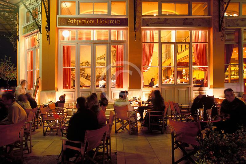 Greece, Athens, Thissio, Cafe Athenion Politeia