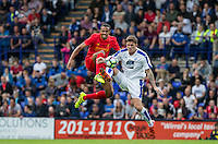 New Signing Joel Matip of Liverpool goes up for the ball during the 2016/17 Pre Season Friendly match between Tranmere Rovers and Liverpool at Prenton Park, Birkenhead, England on 8 July 2016. Photo by PRiME Media Images.