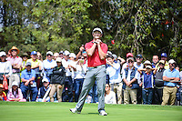 Jon Rahm (ESP) reacts to barely missing a birdie putt on 4  during round 4 of the World Golf Championships, Mexico, Club De Golf Chapultepec, Mexico City, Mexico. 3/5/2017.<br /> Picture: Golffile | Ken Murray<br /> <br /> <br /> All photo usage must carry mandatory copyright credit (&copy; Golffile | Ken Murray)