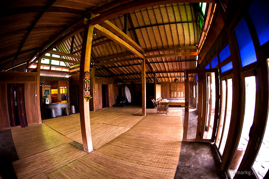Inside the Happy House at the Pondok Pitaya Surfer Hotel.