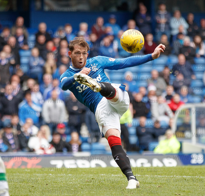 Joe Garner attemps an acrobatic shot on goal