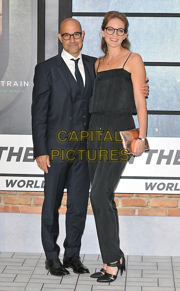 Stanley Tucci and Felicity Blunt at the &quot;The Girl on the Train&quot; world film premiere, Odeon Leicester Square cinema, Leicester Square, London, England, UK, on Tuesday 20 September 2016.<br /> CAP/CAN<br /> &copy;CAN/Capital Pictures
