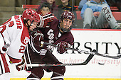 (Grenier) Mark Nasca (Colgate - 8) - The Harvard University Crimson defeated the visiting Colgate University Raiders 4-2 on Saturday, November 12, 2011, at Bright Hockey Center in Cambridge, Massachusetts.
