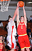 Bobby Connors #15 of Chaminade, right, fights for a rebound during a non-league varsity boys basketball game against host Long Island Lutheran High School on Friday, Dec. 16, 2016.
