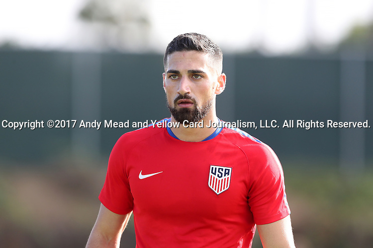 11 January 2017: Sebastian Lletget. The United States Men's National Team held their first training session under new head coach Bruce Arena on The Murphy Family Field at the StubHub Center in Carson, California.