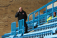 Uwe Rosler (Manager) of Fleetwood Town on the phone ahead of the Sky Bet League 1 match between Gillingham and Fleetwood Town at the MEMS Priestfield Stadium, Gillingham, England on 27 January 2018. Photo by David Horn.