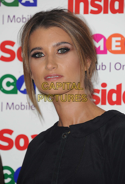 Charley Webb <br /> Inside Soap Awards at Ministry Of Sound, London, England.<br /> 21st October 2013<br /> headshot portrait black <br /> CAP/DS<br /> &copy;Dudley Smith/Capital Pictures