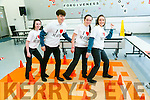 Mercy Mounthawk TY Students organised  activities for Maths Week on Tuesday pictured in the Maths Maze were Ciara Moynihan, Josh O'Connor, Mary O'Connell, Niamh McMahon