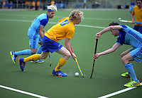 Action from the 2018 Men's Senior Hockey Tournament match between Otago and Northland at National Hockey Stadium in Wellington, New Zealand on Friday, 21 September 2018. Photo: Dave Lintott / lintottphoto.co.nz
