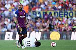 53e Trofeu Joan Gamper.<br /> FC Barcelona vs Club Atletico Boca Juniors: 3-0.<br /> Arturo Vidal vs Edwin Cardona.