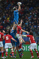 Kristopher Burton Italia touche.Roma 23/2/3013 Stadio Olimpico.Rugby Trofeo 6 Nazioni - 6 Nations .Italia Vs Galles / Italy Vs Wales .Foto Antonietta Baldassarre Insidefoto
