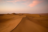 Dawn over the Wahiba Sands desert in the Oman
