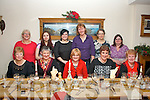 Staff fron Tralee's International Resource Centre, Craft group, Boherbue, Tralee celebrated their annual Christmas party in Bella Bia, Tralee last Friday night, seated l-r: Ann McKenna, Mairead O'Mahony, Ester Truslove, Alex Shanahan and Delia Lucid. Back l-r: Moira Bulger, Egifa Adamane, Kristine Silina, Bettina Haoar, Elizbeth Koch and Mary Shanahan.
