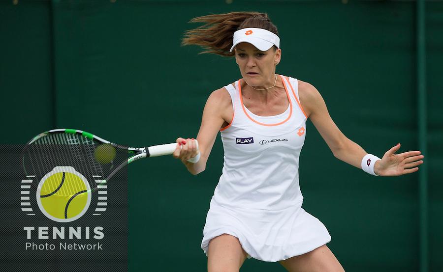 AGNIIESZKA RADWANSKA (POL)<br /> <br /> The Championships Wimbledon 2014 - The All England Lawn Tennis Club -  London - UK -  ATP - ITF - WTA-2014  - Grand Slam - Great Britain -  24th June 2014. <br /> <br /> © Tennis Photo Network