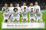 Real Madrid's team photo with Keylor Navas, Sergio Ramos, Toni Kroos, Raphael Varane, Karim Benzema, Cristiano Ronaldo, Lucas Vazquez, Marcelo Vieira, Marco Asensio, Daniel Carvajal and Luka Modric during La Liga match. February 10,2017. (ALTERPHOTOS/Acero)