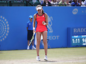 June 16th 2017, Nottingham, England;WTA Aegon Nottingham Open Tennis Tournament day 7;  Johanna Konta of Great Britain pumped up s she heads towards victory over Ashleigh Barty of Australia in the quarter final; Konta won 6-3, 7-5 to reach the semi finals