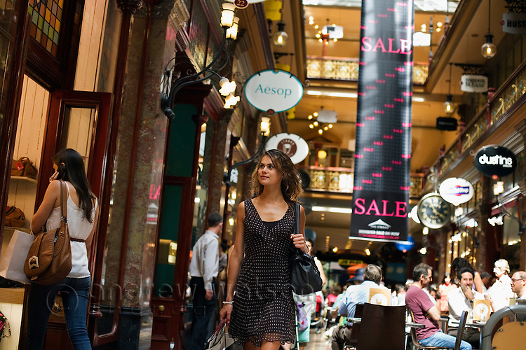 Shopping in the Strand Arcade.  Sydney, New South Wales, AUSTRALIA.