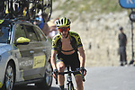 "Adam Yates (GBR) Mitchelton-Scott climbs towards the finish line atop the Col du Tourmalet 6'42"" down at the end of Stage 14 of the 2019 Tour de France running 117.5km from Tarbes to Tourmalet Bareges, France. 20th July 2019.<br /> Picture: Colin Flockton 