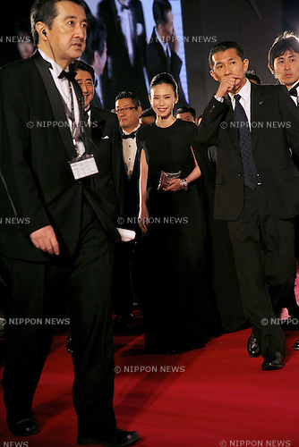 Miki Nakatani, Oct 23, 2014 :  Tokyo, Japan: The Festival Muse Miki Nakatani attends the 27th Tokyo International Film Festival, Opening Event Red Carpet at Roppongi Hills Arena in Tokyo, Japan, October 23, 2014.  The Film Festival will run through until Friday 31. (Photo by Rodrigo Reyes Marin/AFLO)